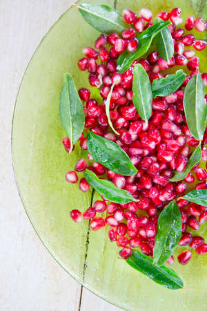 antioxidant: The Red Fruit Of The Pomegranate Antioxidant And Vitamin-Rich Stock Photo