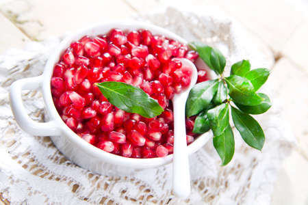 The Red Fruit Of The Pomegranate Antioxidant And Vitamin-Rich photo
