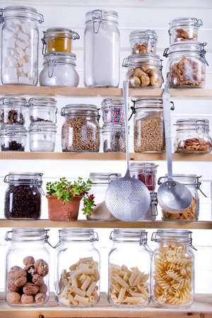 Small Pantry Housewife, Containing Necessary To Cook  photo
