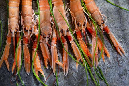 Marine Product Presentation And Preparation Of The Crayfish photo