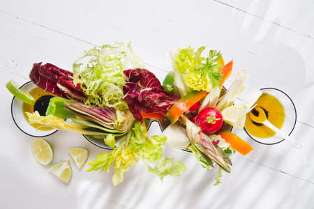 Contour based on a vinaigrette with seasonal vegetables