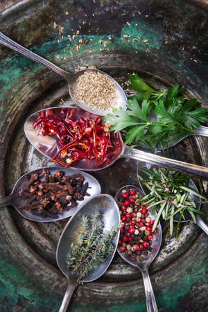 Submission of spices needed for an international cuisine