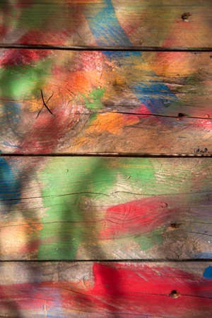 mixed colors: Background of wooden boards colored with mixed colors