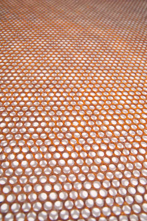 perforated metal: Background composed with perforated metal sheet Stock Photo