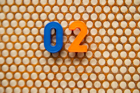 metal base: Series of numbers, 02 on white base metal
