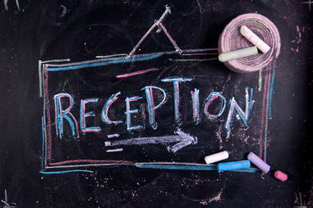 performed: Graphical representation of written receipt, performed with chalk on blackboard