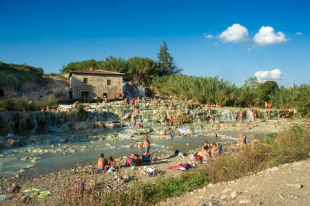 therapy geothermal: Free spas in Tuscany, Saturnia province of Grosseto Italy