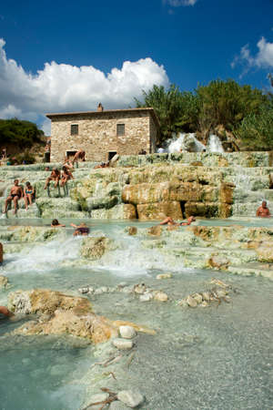 hot water geothermal: Free spas in Tuscany, Saturnia province of Grosseto Italy