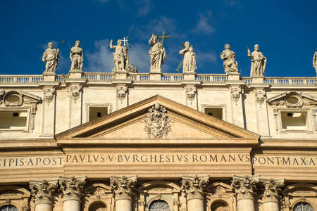 Details of St. Peters Basilica in the Vatican, by day