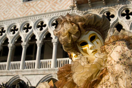 evocative: Elegant and evocative of the traditional masks of venice Italy carnival Stock Photo