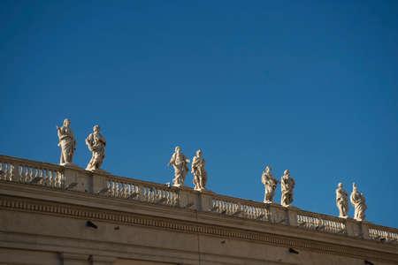 portico: Architectural details Portico of Bernini in Vatican City Italy