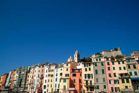 Architectural and construction details of the village of Portovenere Liguria Italy