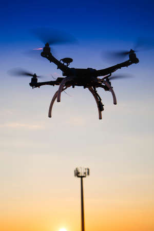The use of drones for the technical control of mobile telephony antennas