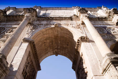 View of the Arch of Constantine located in Rome the eternal city Stock Photo