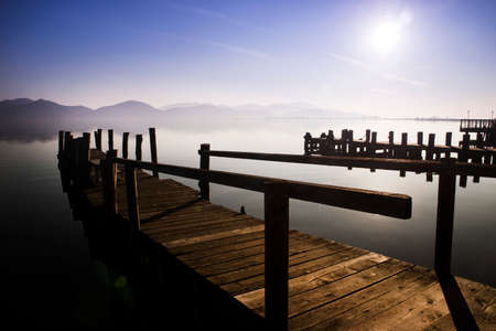 On the shores of Lake Massaciuccoli in Torre Del Lago Puccini Italy Tuscany 免版税图像