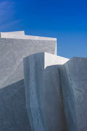 Exhibition of a series of Carrara marble blocks