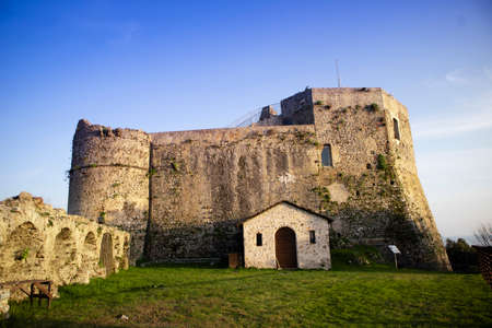 Photographic shot of the old Aghinolfi castle in Massa Carrara Tuscany Italy