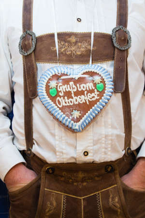 costume with gingerbread heart   photo