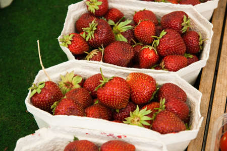 Strawberries on a market in  Stock Photo - 13816257