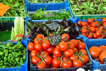 gelb: vegetable market in Germany Stock Photo