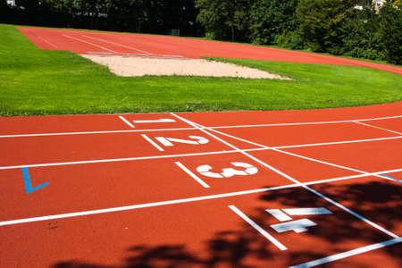 spiel: sports field Stock Photo