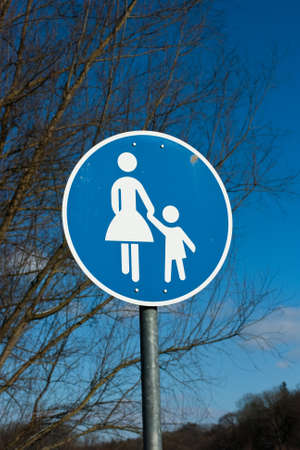 ende: traffic sign in Germany   Stock Photo
