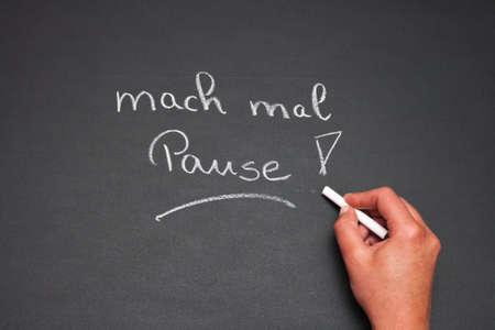 buchstabe: blackboard with symbolic metaphors