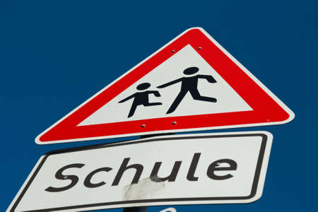 traffic sign for a school Stock Photo - 13734671