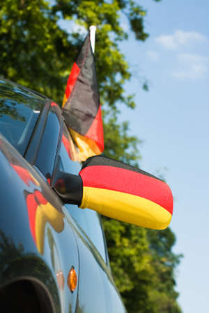 Car mirror with colors of Germany