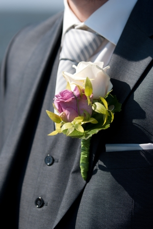 vőlegény: Részletek egy esküvő Stock fotó