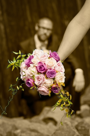 Details of a wedding photo