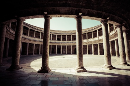 establish: The Palace of Charles V is a Renacentist construction in Granada, southern Spain, located on the top of the hill of the Assabica, inside the Nasrid fortification of the Alhambra. It was commanded by Charles V, Holy Roman Emperor, who wished to establish h Editorial