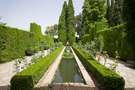 Generalife is translated as garden of the architect. Stock fotó