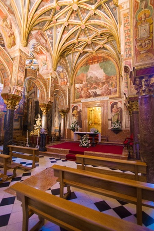 The royal chapel of the Middle Ages inside  the mezquita