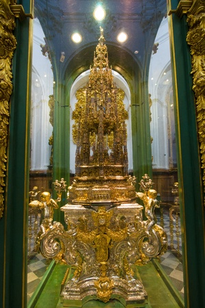 great hall: One masief silver monstrance of 164 kg made by Enrique Arfe around 1519