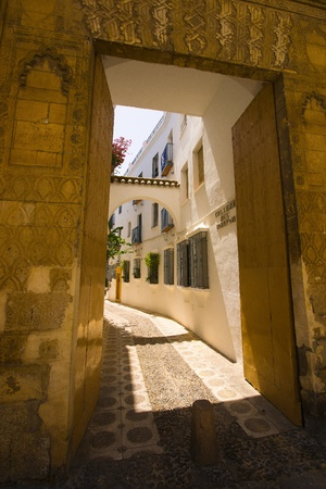 spaniards: To keep  the heat from the village the Spaniards built there houses  tightly together with narrow streets and paint theme White