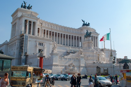 emmanuel: Victor Emmanuel II monument, is an enourmus building in Piazza Venezia, Rome, Italy