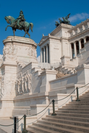 altar of fatherland: Victor Emmanuel II monument, is an enourmus building in Piazza Venezia, Rome, Italy