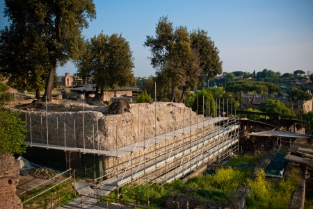 augustus: Palatino and Roman forum in Rome, Italy