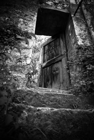 Vintage ols house door photo