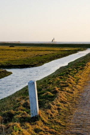 marken: View overthe dutch wetlands in Marken Stock Photo