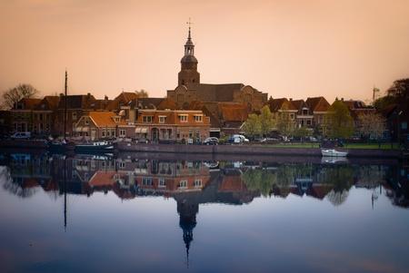Picturesque, Small town in Netherlands Blokzijl 免版税图像