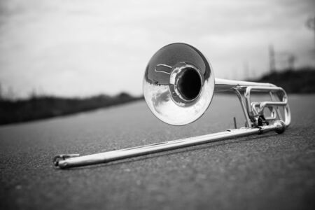 trombone: Musical instrument Stock Photo