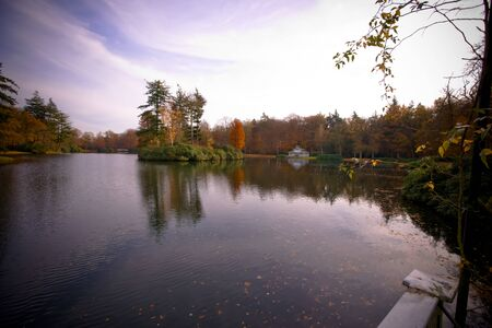 Autumn at the parklake photo