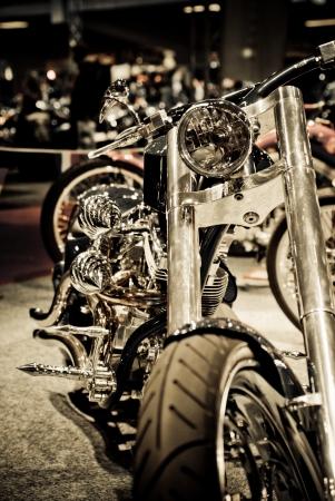 harley: Motorcycle in showroom