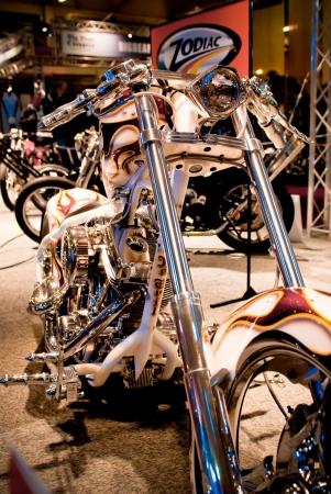 v cycle: Motorcycle in showroom