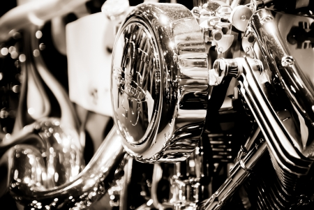 twin engine: Motorcycle in showroom
