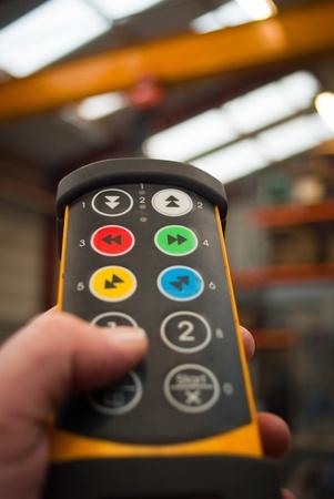 remote controls: CRANE REMOTE CONTROLS Stock Photo