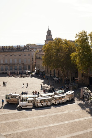 vesting: Place du Palais, Avignon, Provence, France, Europe Editorial