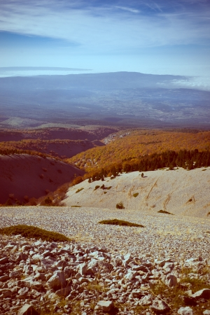 View from the  Mount Ventoux, Vaucluse, France photo